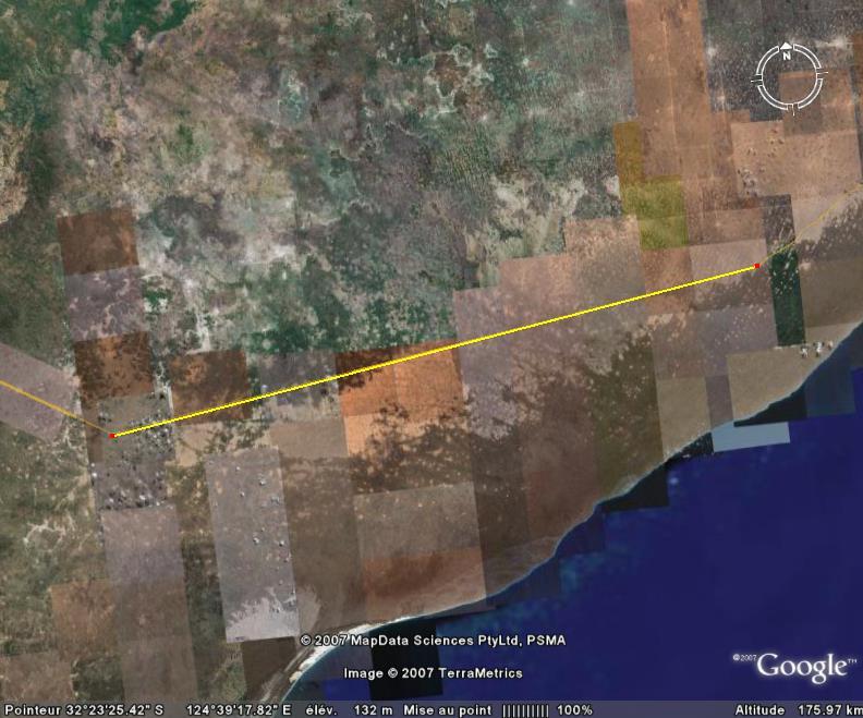 Plus grande ligne droite du monde - Australie Route10