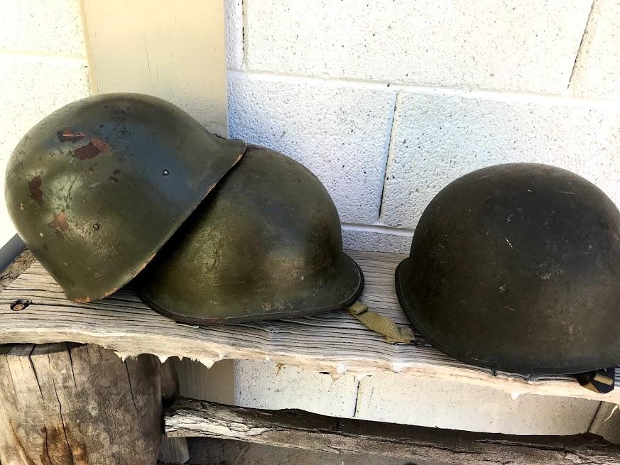 Deux casques U.S M1 Vietnam et WII Img_1040