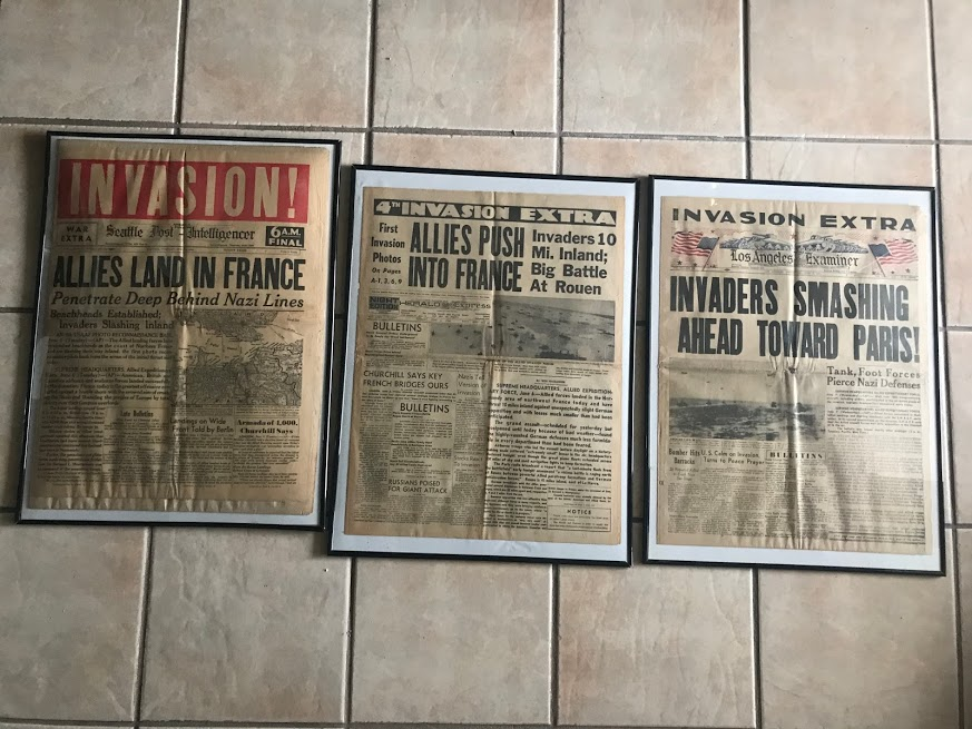 journaux commémoratif débarquement (1964 et 1984)  Img_1230