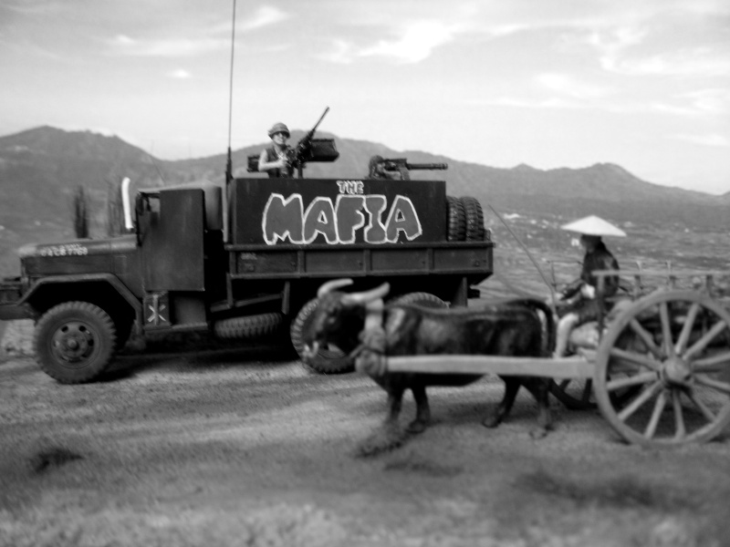 THE MAFIA gun truck nam conversion ACADEMY 1/72° Mafia410