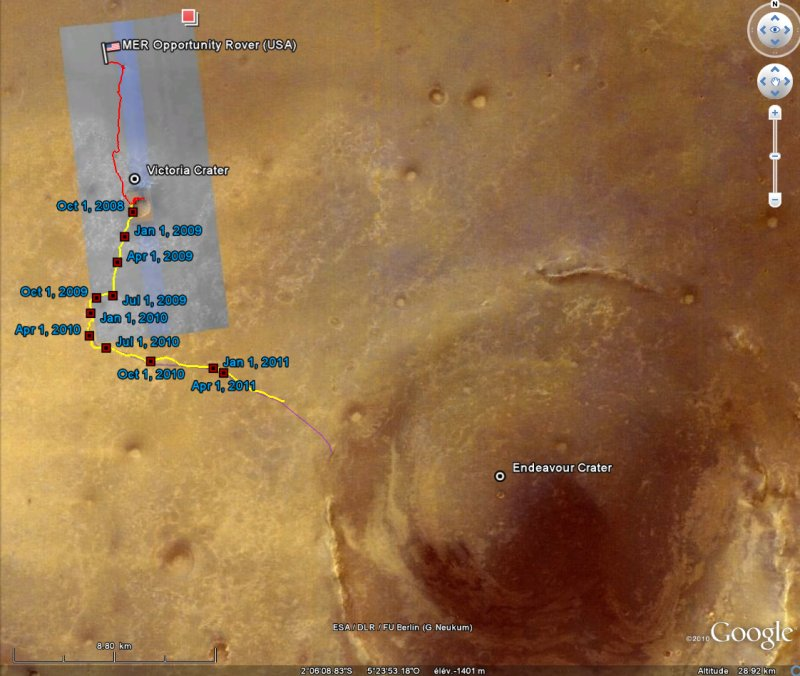 Opportunity va explorer le cratère Endeavour - Page 12 Image124