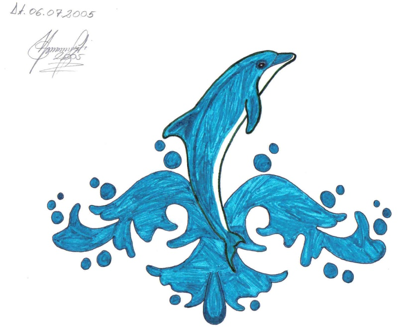 Piktura të vizatuara nga unë... Delfin10