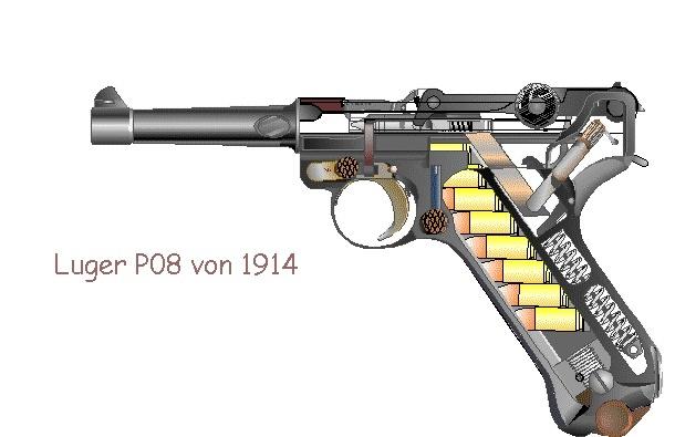 La PF-45 & Luger P08 Luger10
