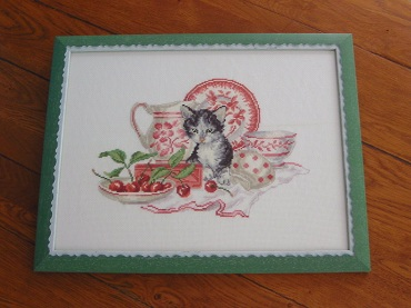 Le chaton aux cerises encadré Bild2812