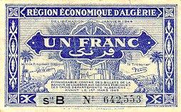 Emissions d'Algérie en billet avant 1962 Alg09810