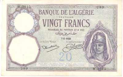 Emissions d'Algérie en billet avant 1962 Algeri16