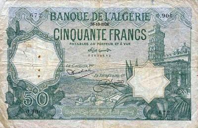 Emissions d'Algérie en billet avant 1962 Algeri18