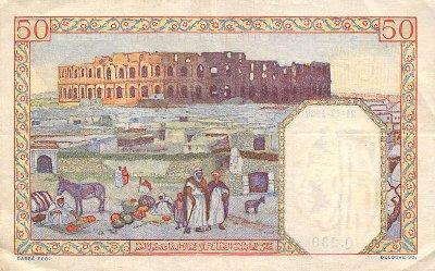 Emissions d'Algérie en billet avant 1962 Algeri23