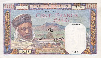 Emissions d'Algérie en billet avant 1962 Algeri24