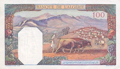 Emissions d'Algérie en billet avant 1962 Algeri25