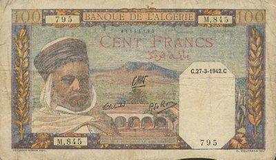 Emissions d'Algérie en billet avant 1962 Algeri28