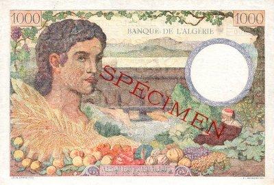 Emissions d'Algérie en billet avant 1962 Algeri31