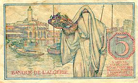 Emissions d'Algérie en billet avant 1962 Algeri37