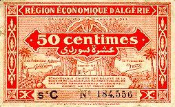 Emissions d'Algérie en billet avant 1962 Algeri42