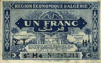 Emissions d'Algérie en billet avant 1962 Algeri46