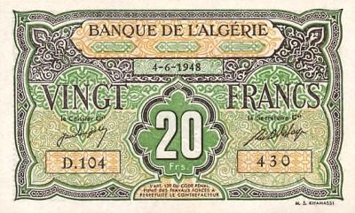 Emissions d'Algérie en billet avant 1962 Algeri48