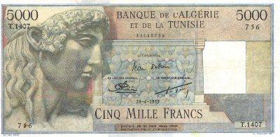 Emissions d'Algérie en billet avant 1962 Algeri50