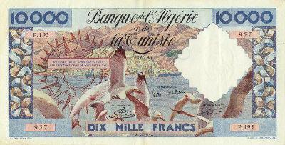 Emissions d'Algérie en billet avant 1962 Algeri52