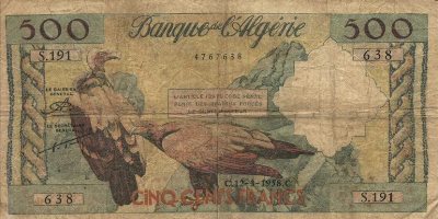 Emissions d'Algérie en billet avant 1962 Algeri54
