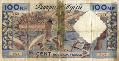 Emissions d'Algérie en billet avant 1962 Algeri60