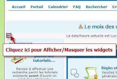 Afficher/Masquer les Widgets du forum 04-10-16