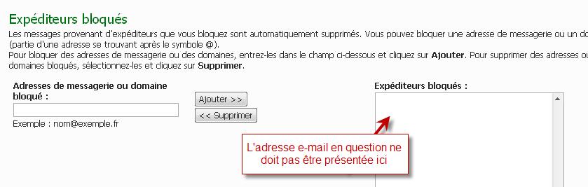 Problème de réception des notification par mail 20-04-16