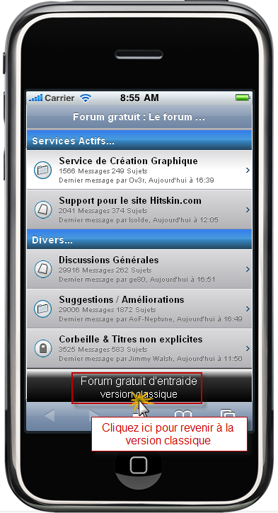 Le forum version mobile 25-02-12