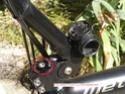 Compteur (cyclomètre) sans fil marchant sur un metabike Dsc06110