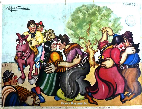 Dibujos Humorísticos de Benjamín Solari Parravicini Bajap127