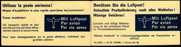 Luftpost Aufkleber (Airmail Sticker) Neu-110