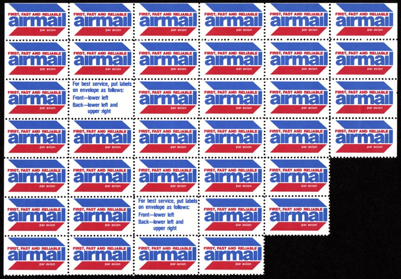 Luftpost Aufkleber (Airmail Sticker) Us_air10