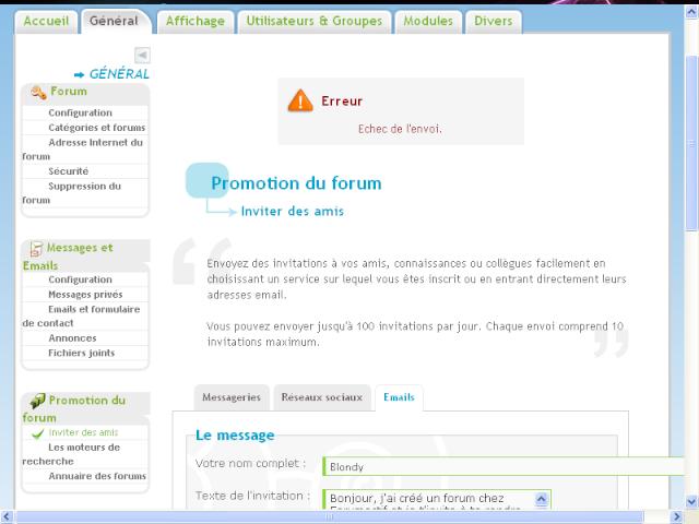 """Soucis pour envoyer des emails avec le système intitulé """"promotiondu forum : inviter des amis"""" Sans_146"""