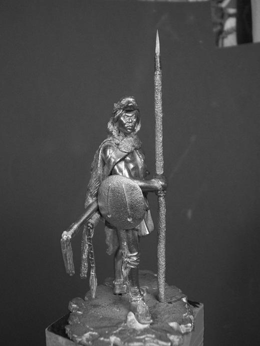 Northern Cheyenne Warrior (La Meridian Miniatures 54mm) Dscf9334