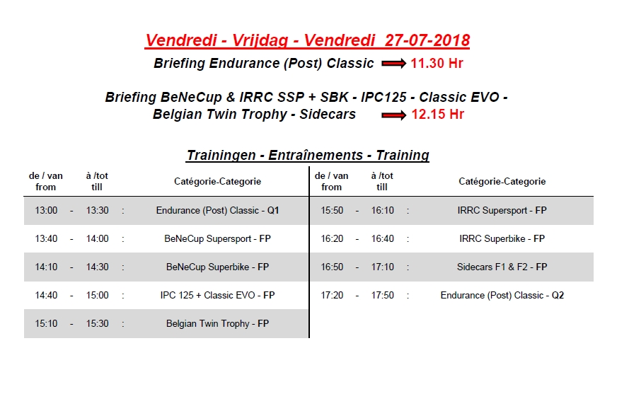 [Road racing] Open Trophy Chimay 2018  Timing10