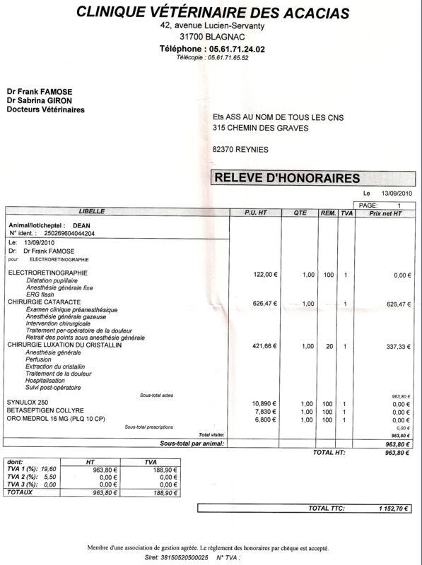 aide pour payer facture veto de Dean Fact_d10