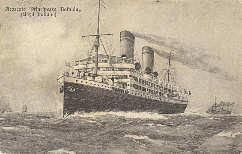'Principessa Mafalda' - Lloyd Italiano - 1908 03a_na10