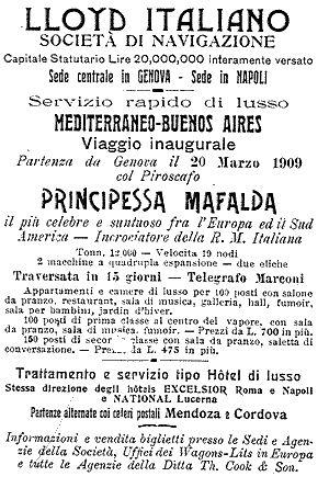 'Principessa Mafalda' - Lloyd Italiano - 1908 05_nav10