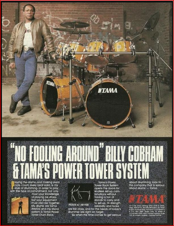 Tama Billy Cobham AD Circa 1986! Billya10