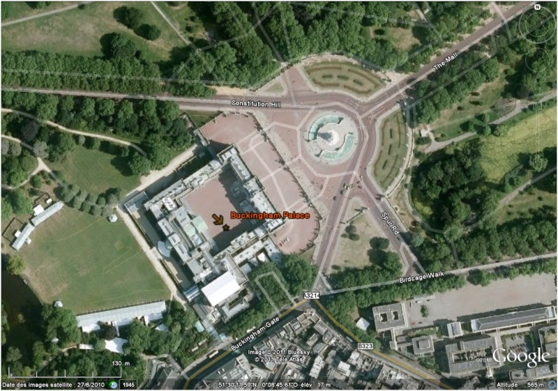 Le mariage de Kate et William à Londres (Angleterre) avec Google Earth Buck10