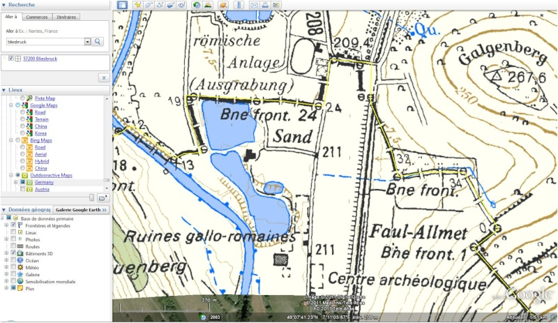 Antiquités romaines sous l'oeil de Google Earth - Page 2 Ign10