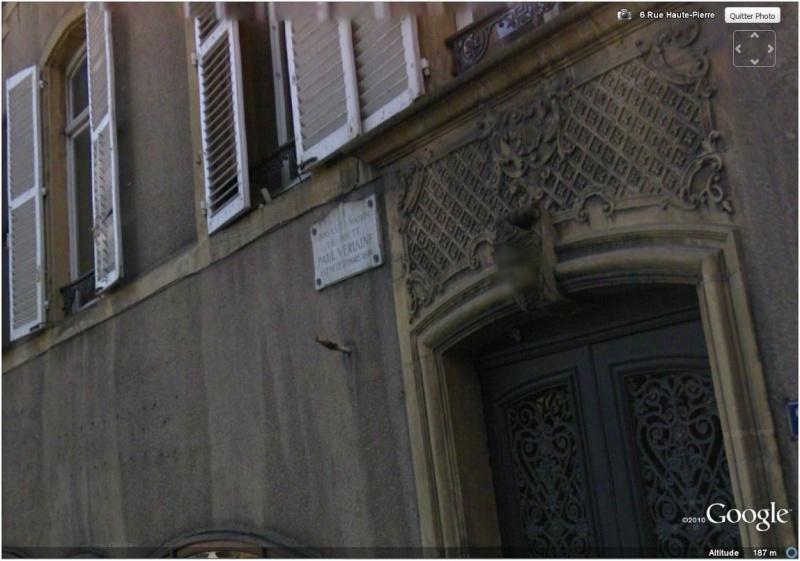 """Maisons natales des """"grandes figures"""" repérées dans Google Earth Verlai10"""