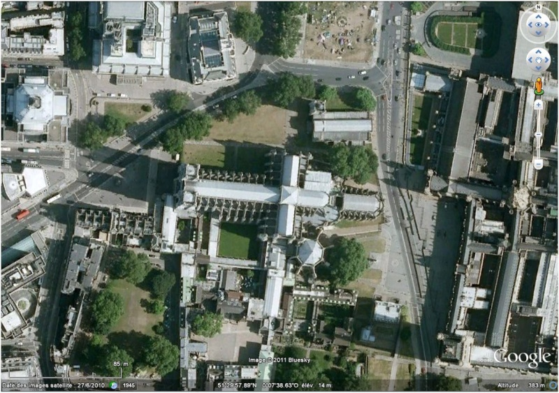 Le mariage de Kate et William à Londres (Angleterre) avec Google Earth Westmi10