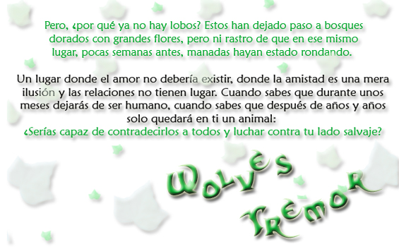 Wolves Tremor [Nuevo] Trama211