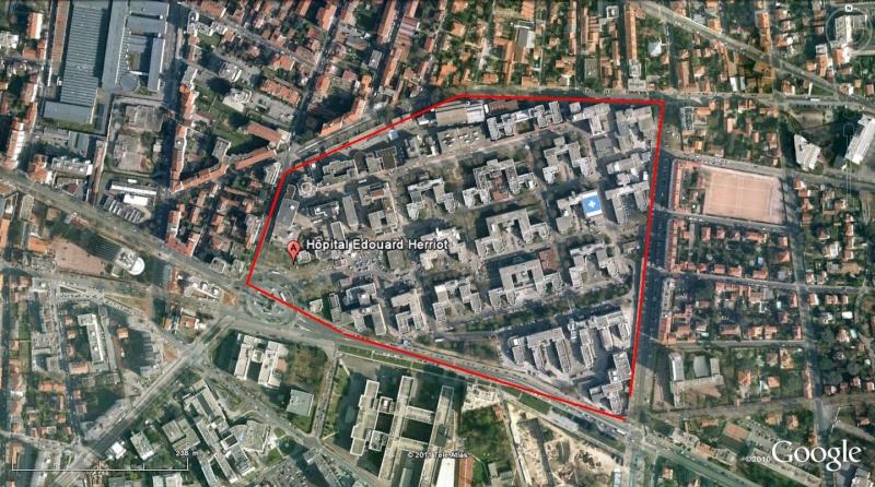 Street view: La cité idéale en 25 Fresques murales à Lyon 1100