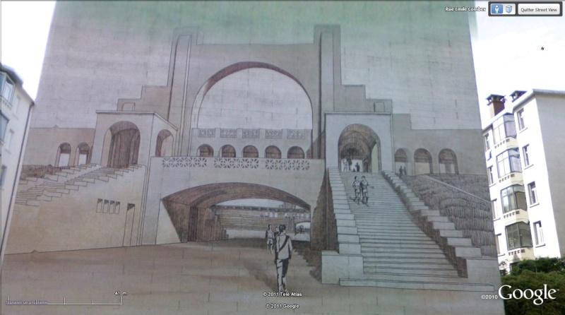Street view: La cité idéale en 25 Fresques murales à Lyon 190