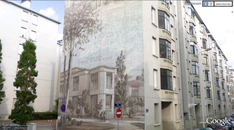 Street view: La cité idéale en 25 Fresques murales à Lyon 199