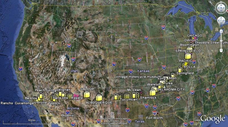 Route 66 : parcours d'un mythe américain. Carte10