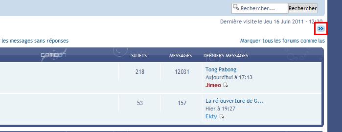 Possibilité de cacher les catégories et menu du forum Menu210