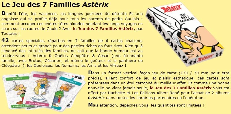 jeux de 7 familles asterix offert pour l'achat de 2 BD Jeux_710