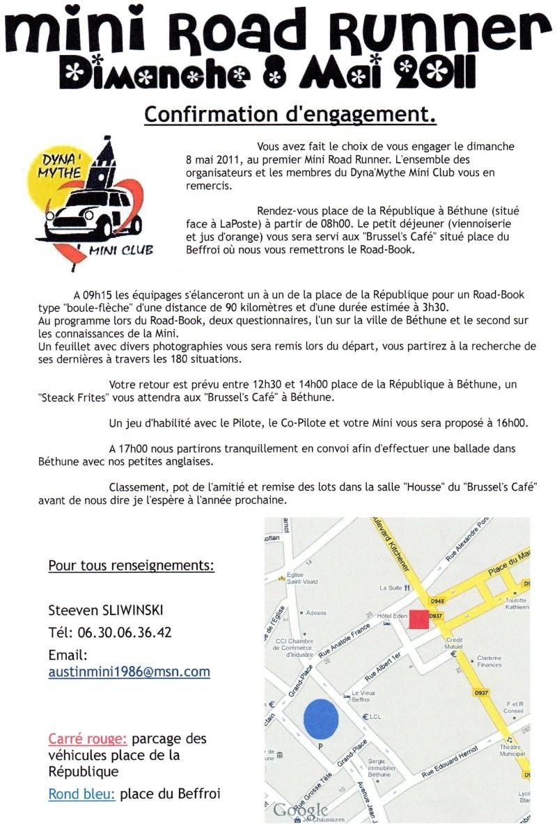 Mini Road Runner - 8 mai 2011 - Béthune 62400 - Page 2 Confir10